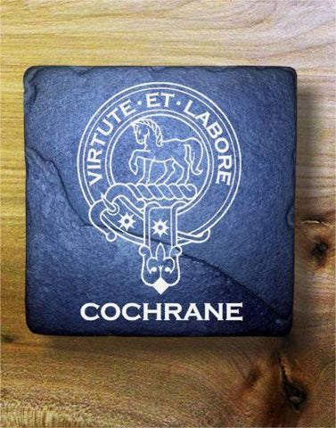 COCHRANE - Scottish Clan Crest Stone Coaster