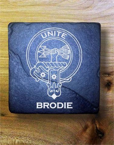 BRODIE - Scottish Clan Crest Stone Coaster