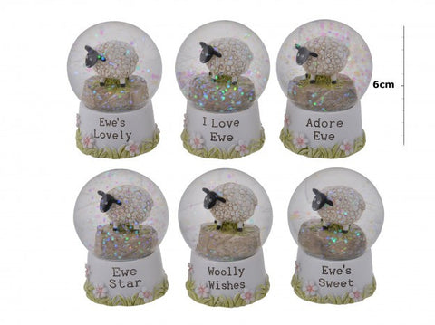 Sheep Snow Globes