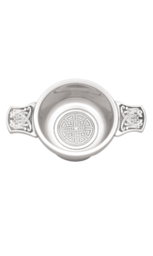 "Celtic 2.5"" Polished Pewter Quaich"