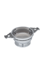 "Celtic 2"" Chrome Plated Quaich"