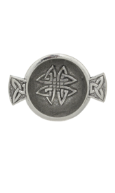 Celtic Knot Mini Pewter Quaich 1.7""