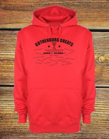"RED Adult Unisex Hoody ""Gothenburg Greats"""
