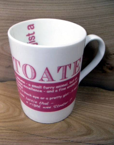 China Mug - Scottish Dialect Word (Stoater)