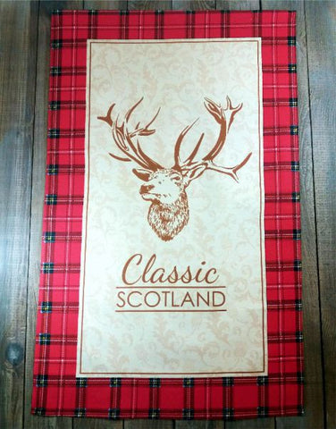 Classic Tea Towel Scotland Stag