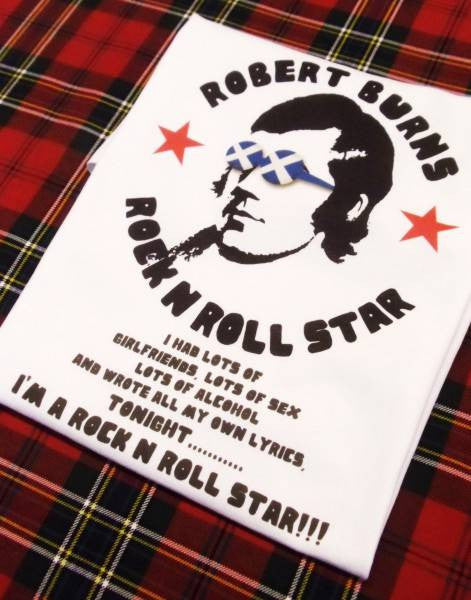 Robert Burns - Rock n' Roll Star T-Shirt