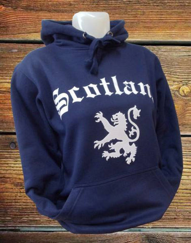 Unisex Adult Hoody NAVY - Scotland & Rampant Lion