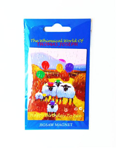 Happy Birthday To Ewe Jigsaw Fridge Magnet