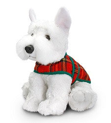 Scottish Westie with Tartan Jacket Cuddly Toy