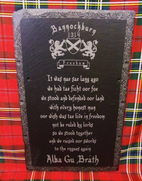 Scottish Poem Slate
