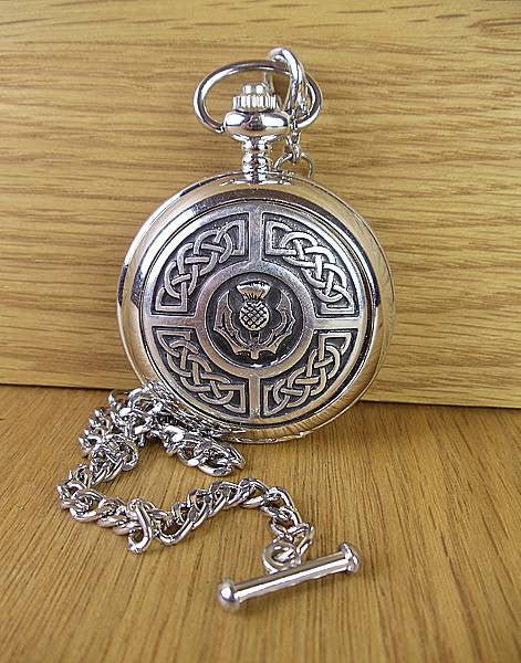 Thistle & Celtic Knotwork Pocketwatch