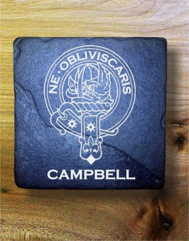 CAMPBELL - Scottish Clan Crest Stone Coaster