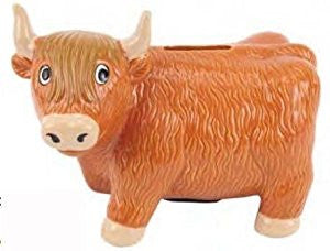 Highland Coo Money Bank