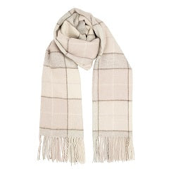 Heritage Traditions - Natural Box Check Scarf