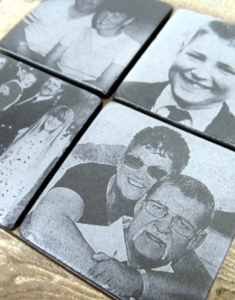 Personalised Photo Coasters (Set of 4 mixed photos)