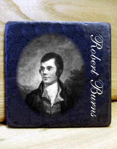 Robert Burns Slate Coaster/Plaque