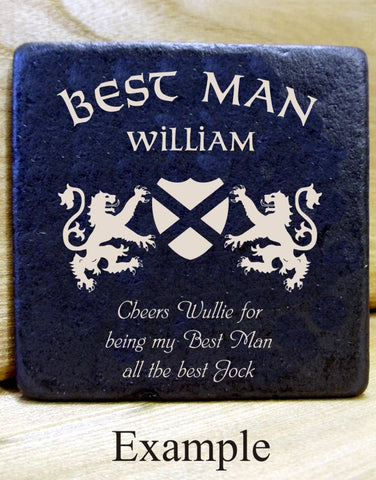 Personalised Message Coaster BEST MAN