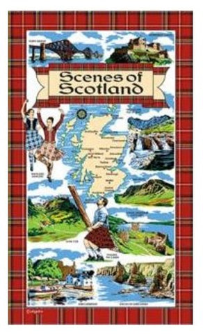 Scenes of Scotland Tea Towel
