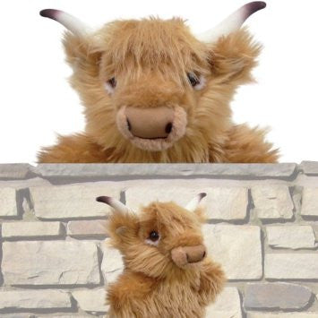Dougal the Highland Cow Hand Puppet