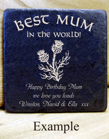 Personalised Message Coaster BEST MUM (in the world!)