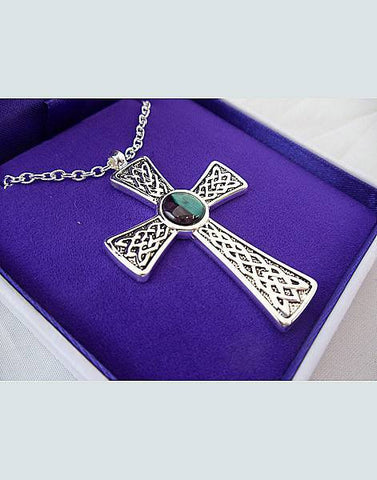 Heathergems Gothic Celtic Cross Pendant