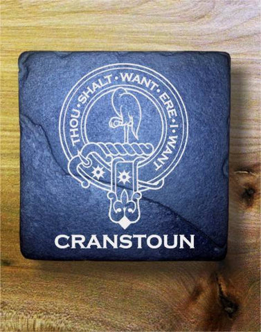 CRANSTOUN - Scottish Clan Crest Stone Coaster