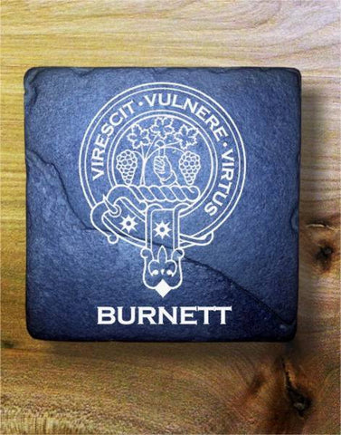 BURNETT - Scottish Clan Crest Stone Coaster