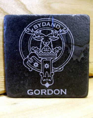 GORDON - Scottish Clan Crest Stone Coaster