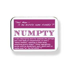 Scottish Dialect Coaster - NUMPTY