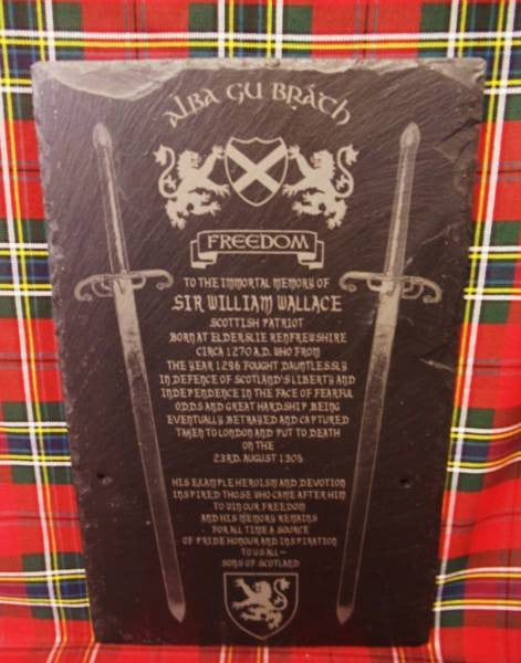 William Wallace Tribute (swords)