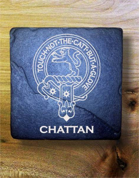 CHATTAN - Scottish Clan Crest Stone Coaster
