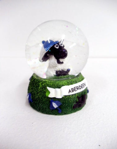 Aberdeen Scotland Sheep with Saltire Umbrella Snow Globe
