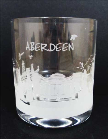 Aberdeen Skyline Whisky Crystal Glass