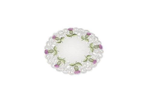 "Doyley Balmoral White Design 6"" Round"