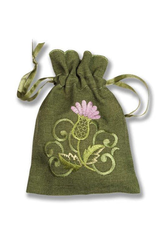 Pot Pourri Bag Balmoral Green Design