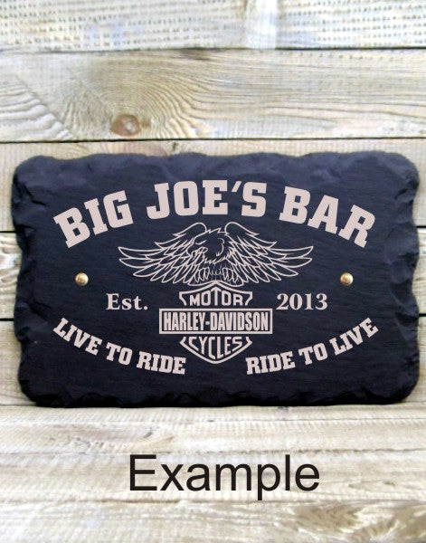 Personalised Bar Sign (Biker Template A)