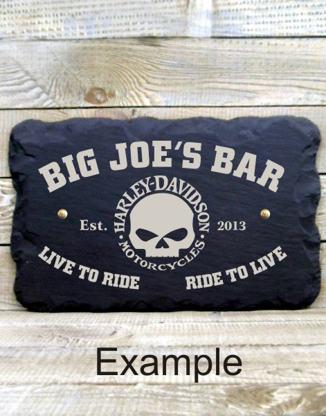 Personalised Bar Sign (Biker Template B)