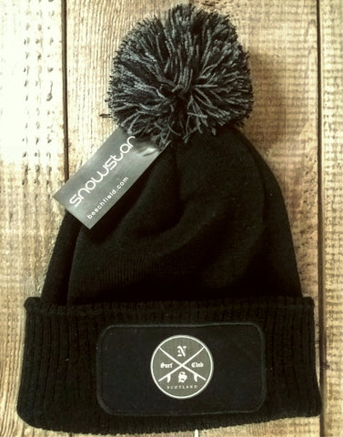 North Sea Surf Club Scotland Lord Vader Bobble Hat - Black