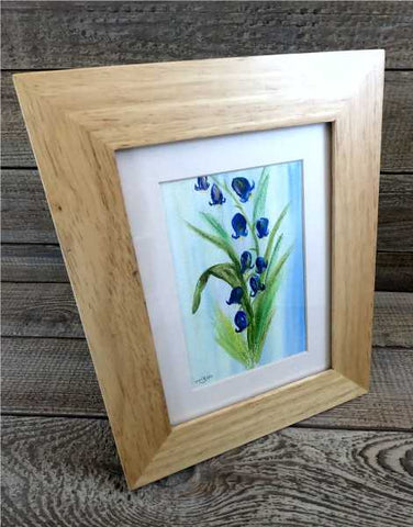 """Bluebells"" Original Water Based Oil Painting by Margaret Burns Miles"