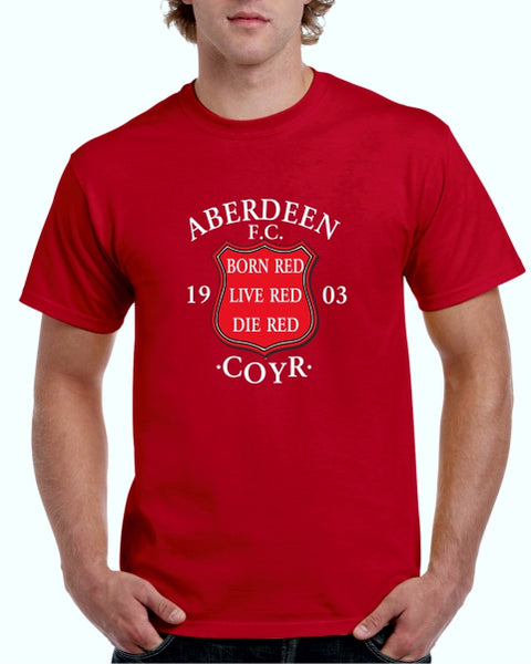 Born Red Live Red Die Red ADULT T-Shirt (red)