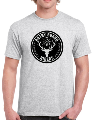 Bothy Board Riders Logo T (Ash Grey)