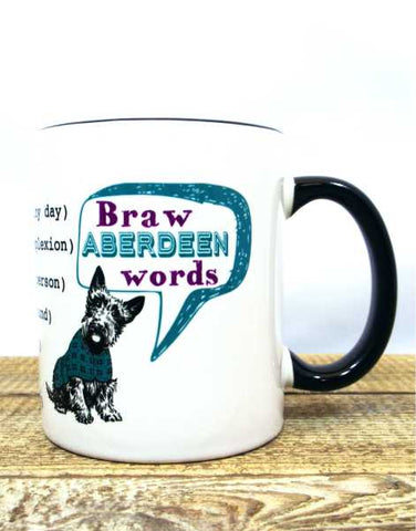 Braw Aberdeen Words Mug