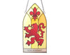 Lion Rampant Stained Glass