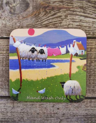 Hand Wash Only Sheep Coaster