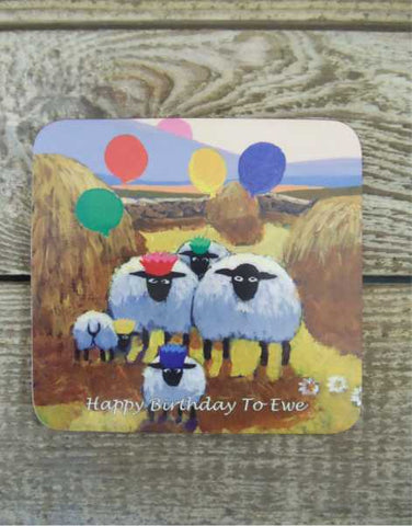 Happy Birthday To Ewe Coaster