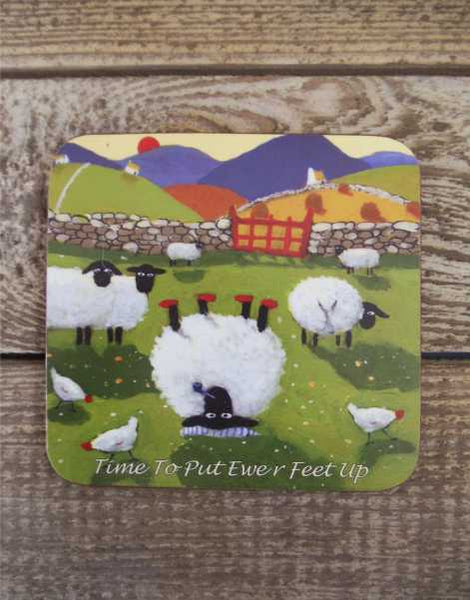 Time To Put Ewer Feet Up Coaster