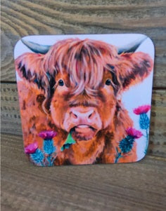 Highland Cow Coaster - Thistle Do
