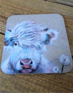 Highland Cow Coaster - Dandelion