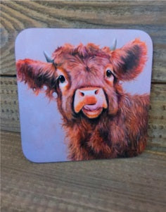 Highland Cow Coaster - Wee Tablet