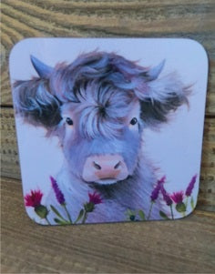 Highland Cow Coaster - Drovers